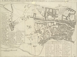 A map of St. Sepulchers without Charter House liberty and Clarkenwell parish